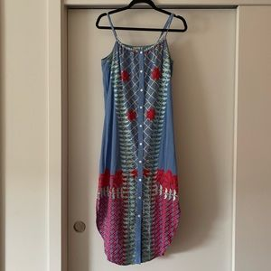 Anthropologie Dresses - Anthropologie Estina Embroidered Chambray Dress